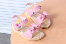 B21370A Children shoes wholesale Korea girls soft bottom beach sandals