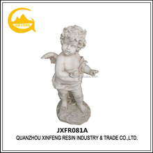 Polyresin christmas cupid statues resin baby angel character
