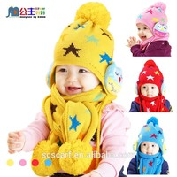 The new winter The infant child the owl hat and scarf wholesale
