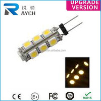 ce rohs 12v 1.5w g4 led 24v 1.5w led g4 13SMD 5050 Dome light 12v 1.2w led car bulb