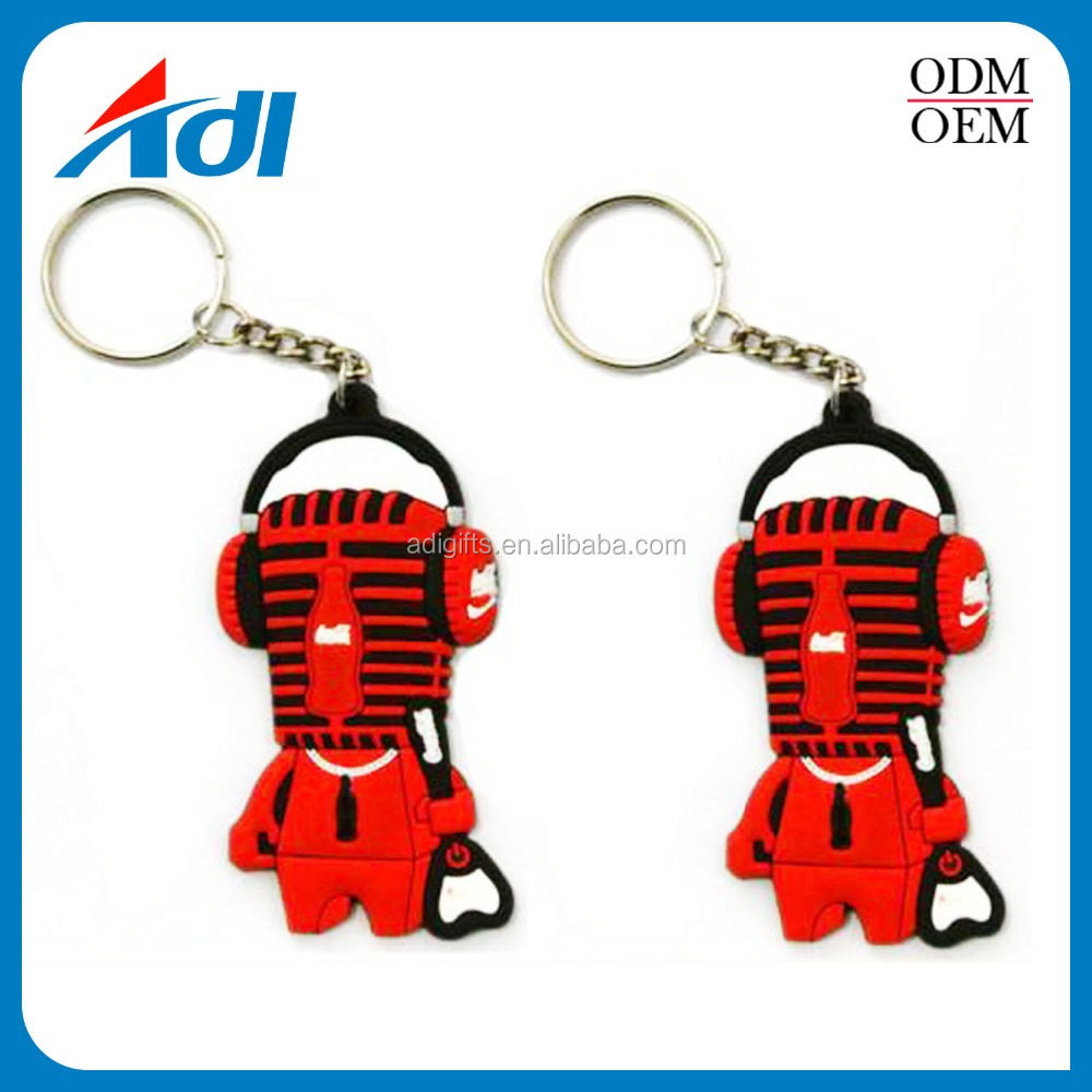 new design personalized name soft pvc rubber keychain for wholesale