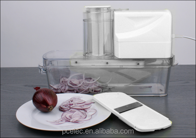 Electric automatic mandolin slicer with GS, CE approval, fruit and vegetable tools as seen on tv