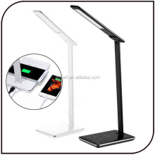 Qi-Enabled Wireless Charger LED Light Touch Sensor Adjustable Brightness Table Desk Lamp