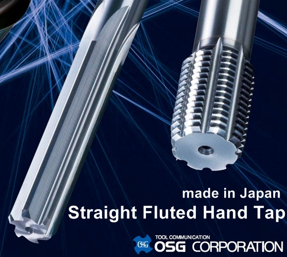 OSG Straight Fluted Hand Standard / Long Shank Tap