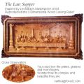 The Last Supper 3D Wood Carving Relief