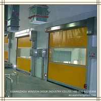 Economy tensioned industrial style PVC roll-up door Alibaba China