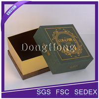 Wholesale paper gift mooncake packaging box with grease-proof paper