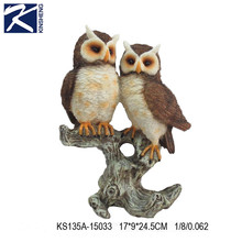 Europe style home decoration crafts owl polyresin figurine
