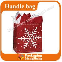 Elegant cheap price red christmas paper glossy bag