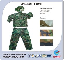 FLYTON brand military/woodland/jungle camouflage units training cloth made in China