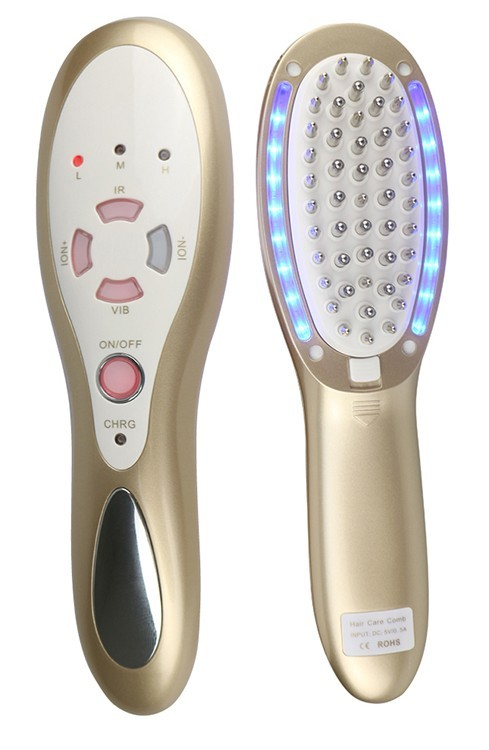 Rechargeable Laser Hair Growth Product Infrared Electric Massage Hair Loss Comb with Removable Hairs Regrowth Oil Tank LED Light