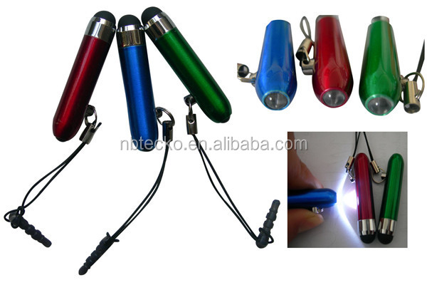 Promotional mini touch screen pen with LED light