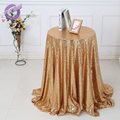 18804 Gold champagne Wedding event sequin table linen embroidery tablecloth