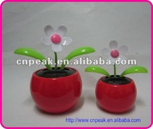Promotional gift solar power flip flap dancing toy flower with big size base in 5 time aviable
