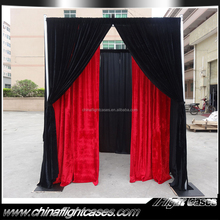2015 Hot Selling out door trade show inflatable booth with fireproof velvet drapes