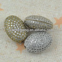925 silver sterling silver shamballa pave beads