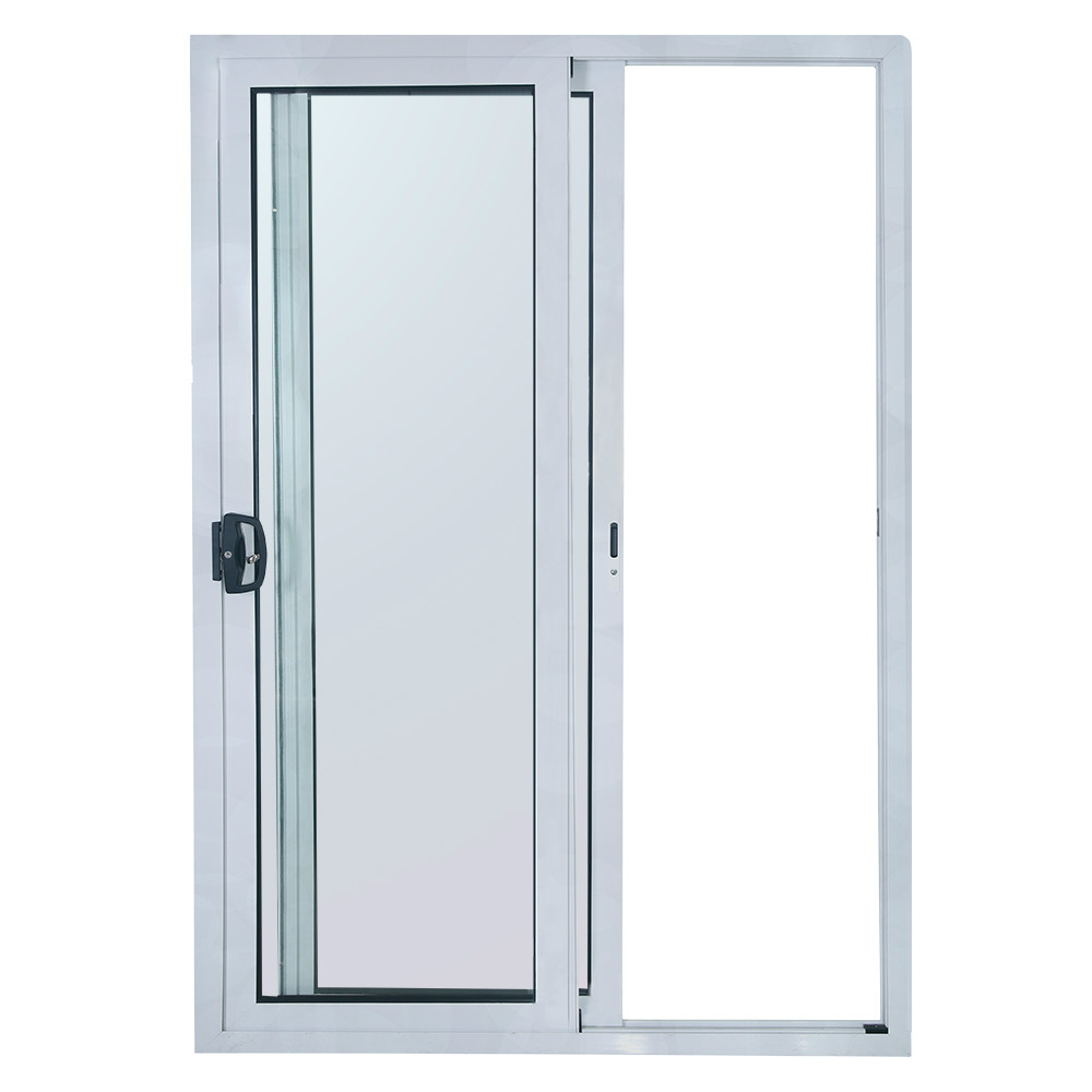 Commercial system interior aluminum sliding door with for Aluminum sliding glass doors