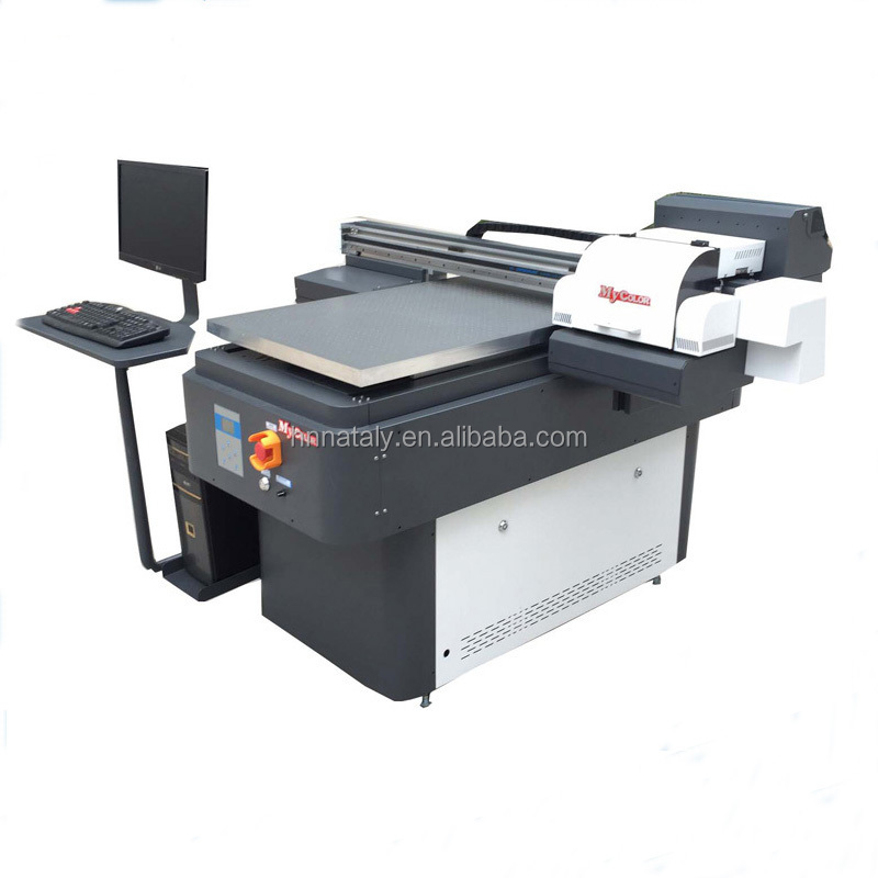 automatic multicolor A1 6090 uv printer for pen,card,mobile phone shell,golf ball