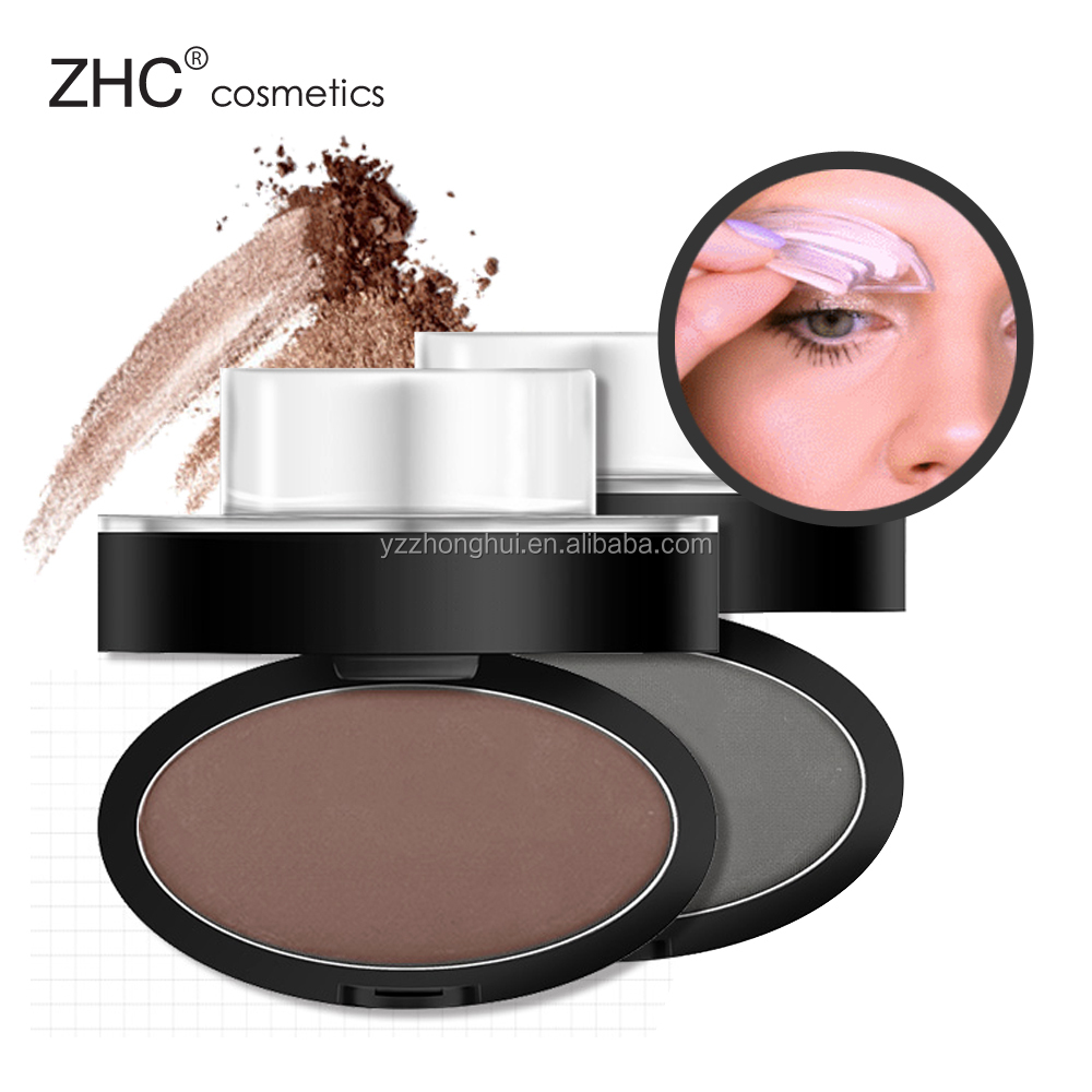 CC30446 High quality OEM Long-wearing eyebrow powder stamps styling compact.