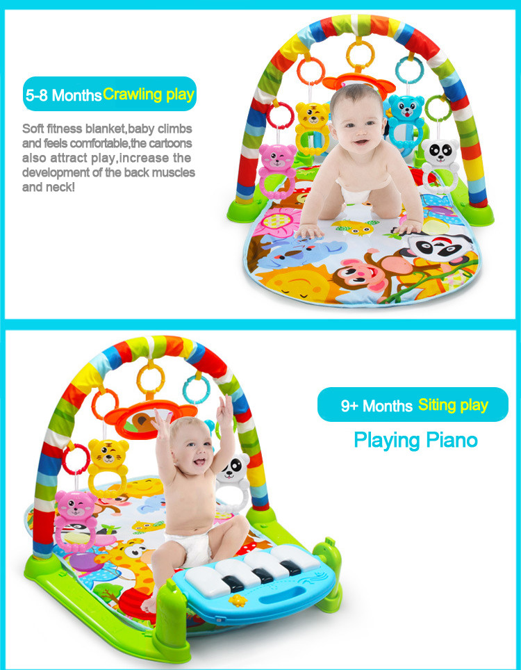 Hot Sale Eco-Friendly Baby Musical Toy Soft Material Baby Play Mat With Piano