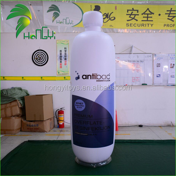 Advertising Airtight PVC Inflatable Bottle Shape , Customizable Inflatable Bottle For Sale