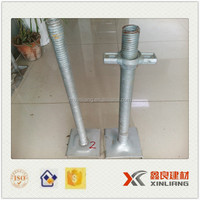 Galvanized base jack and U head scaffolding