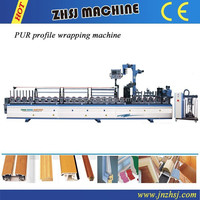 PUR Hot melt Profile wrapping machine /pur laminating machine