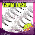 12mm silk natural synthetic flare false eyelashes extensions