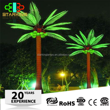 outdoor led garden lights coconut artificial palm trees/solar lighted palm trees