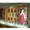 Retail glass jewelry display stand portable showcase cases for trade shows