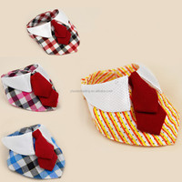 new cheap wholesale multifunctional seamless triangle neck tube bowknot lovely dog custom printed logo scarf bandana