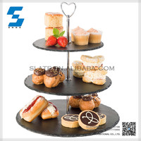Excellent quality low price flat slate cake plate
