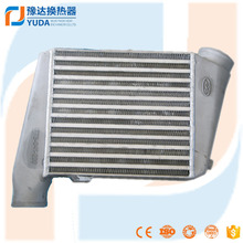 Water liquid to air intercooler radiator for truck and car