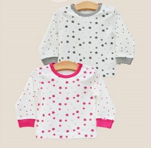 Fashionable ski-friendly 100 cotton printed baby t-shirt made in china