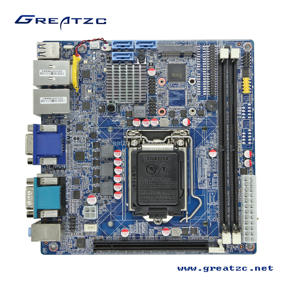 Industrial Mini ITX Motherboard LGA1151 Factory in China,With Intel H110 Chipset,6th Generation core i3/i5/i7 CPU,6 COM,Dual LAN