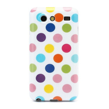 Fashion Polka Dots Sleek TPU Gel Case for Samsung I9070 Galaxy S Advance