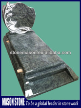 Vert tropical carved landscape headstone benches
