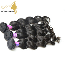 Mona hair best price Wholesale 100% unprocessed virgin Malaysian hair weave