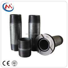 NPT&BSP&DIN threaded carbon seamless steel pipe fittings en 10241 & conduit coupling barrel round nipples galvanized