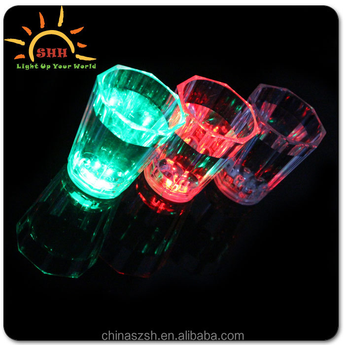 China manufacture multi-color flashing led light cup for/bar/party/wedding/clubs/TV