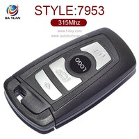 silicone car key cover for bmw smart key 4 button F10 aftermarket pcb AK006040