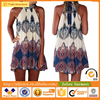 Vintage Printed Ethnic Style Casual Dress Wholesale Women Vest Dress