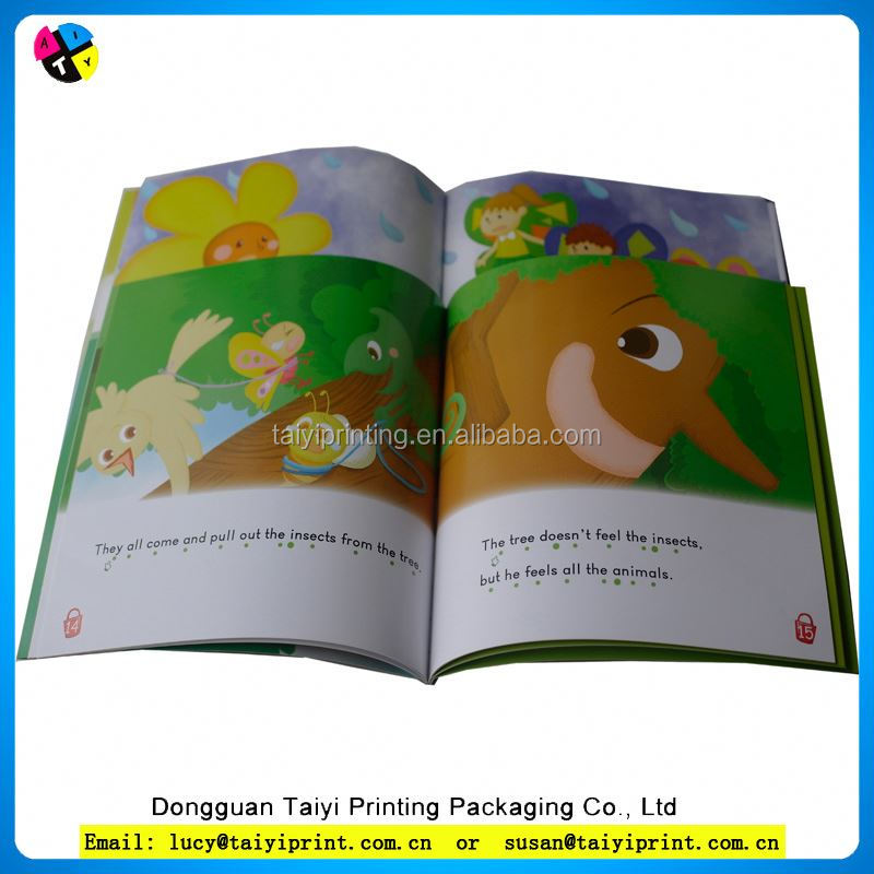 China pantone color kids book printing with GMG color proof system
