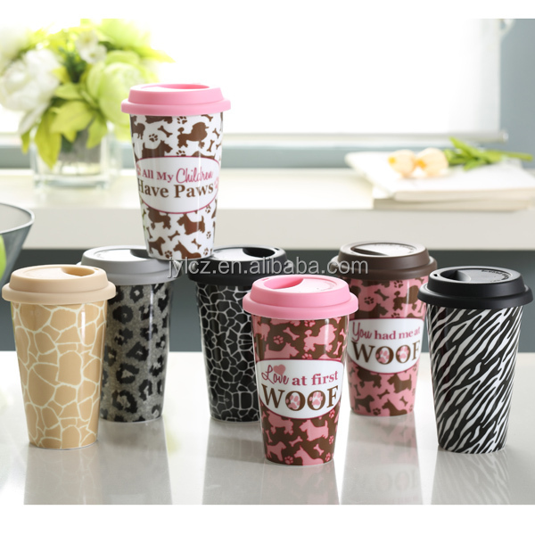 coffee printing blackboard oem double wall tea cup mug with logo canecas porcelana branca atacado caneca