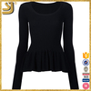 Hot selling 2016 women black sweater vest, empire waist pullover
