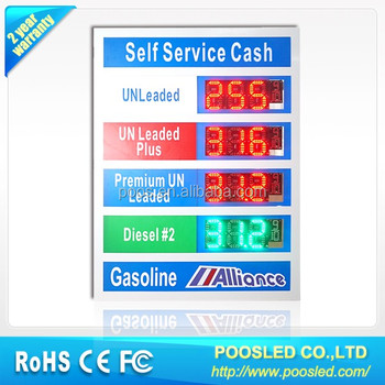 led oil price display for gas station \ led signs for gas \ led signs gas