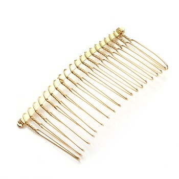 Silver gold 20 teeth Handmade wedding hair comb accessories for veil