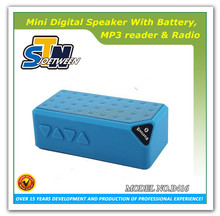 Rechargeable mini bluetooth pencil case with speaker