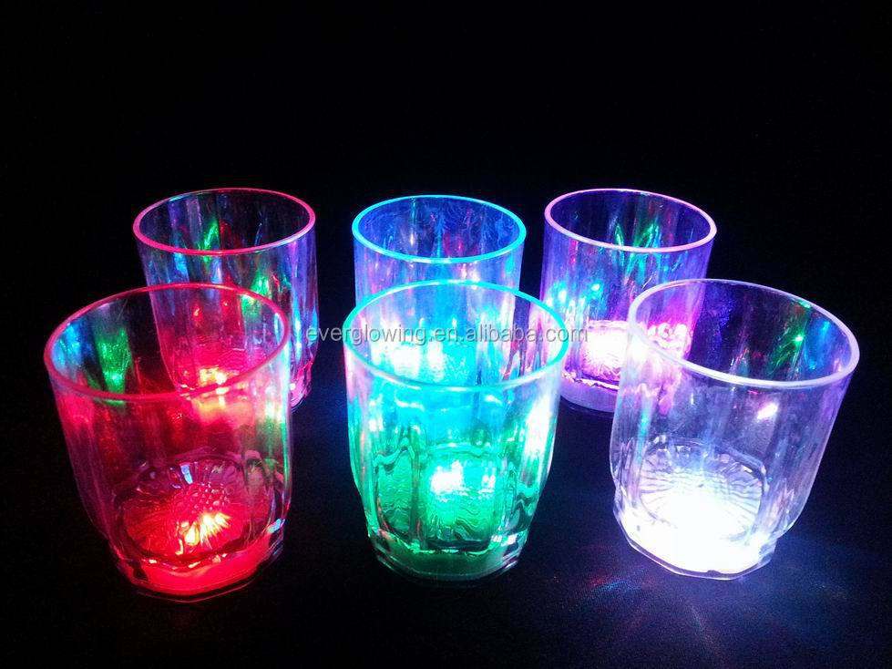 rainbow LED blink glass HOT sell 2016 for bar/night clubs
