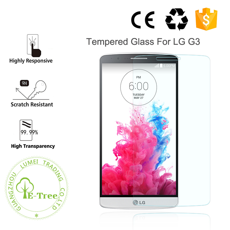 0.3mm New Premium Anti Scratch Tempered Glass Film For LG G3 Screen Protector